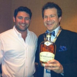 Raj Bhakta Founder/CEO WhistlePig Rye Whiskey with BourbonBlog.com's Tom Fischer