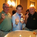 Wild Turkey Associate Distiller Eddie Russell, BourbonBlog Host Tom Fischer, and Wild Turkey Master Distiller Jimmy Russell Give the Bird to order you a Wild Turkey Bourbon