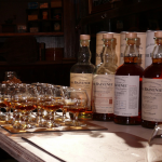 The lineup of other The Balvenie Single Malt Whiskies we sampled including Doublewood 12 Years, Caribbean Cask 14 years, Single Barrel 15 Years, Peated Cask 17 years , and Portwood 21 years