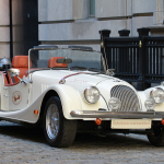 The hand-made Morgan car which traveled the USA during The Balvenie Roadshow 2011