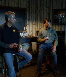 Pete Macca, General Manager Stranahan's Distillery General Manager and Todd Usry, Brewmaster of Breckenridge Distillery host a small tasting with media and friends giving them the first look at Stranahan's Well Built E.S.B. Beer