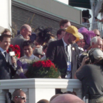 Winner's Circle Kentucky Derby 138 with Jockey Mario Gutierrez Trainer Doug O'Neill and Owner J. Paul Reddam celebrating the win of I'll Have Another