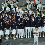 American Athletes at the Parade of Nations During the Opening Ceremony of London 2012 Olympics