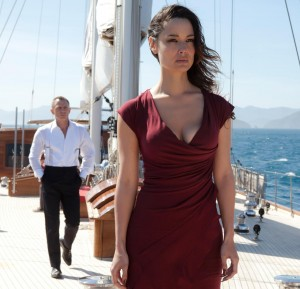 Bérénice Marlohe as Sévérine, the Bond Girl in Skyfall