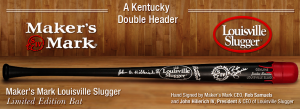 Makers Mark Red Wax Dipped Louisville Slugger Baseball Bat