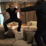 Murr Jumps on the Couch on Impractical Jokers