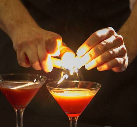 Cocktails fire