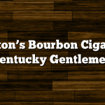 Blanton's Bourbon Cigars by Kentucky Gentlemen