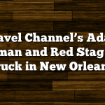 Travel Channel's Adam Richman and Red Stag Food Truck in New Orleans