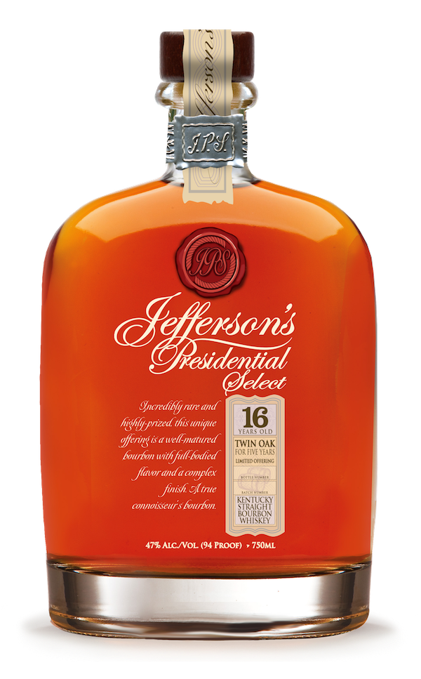 Jefferson's Presidential Select 16yr Twin Oak Bourbon